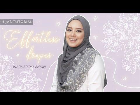 Xxx Mp4 Effortless Drapes Bridal Hijab Tutorial Using Inara Bridal Soulmate 3gp Sex
