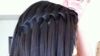 EASY Waterfall Braid Hair Tutorial : for STRAIGHT& CURLY HAIR