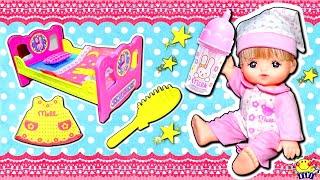 メルちゃん おもちゃ入門セット❤︎アンパンマンのドキンちゃん達とお風呂で遊ぼう♪ミルクも作ってあげよう♪うんちもオムツ替えしておままごと♪水遊びでピンクの髪の毛に⁉︎アニメ キッズ
