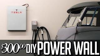 $300 DIY Tesla Powerwall - Solar storage 18650 lithium ion home Battery