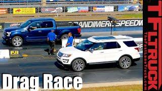 2016 Ford F-150 vs Explorer: Truck vs. SUV Twin Turbo Mashup Review