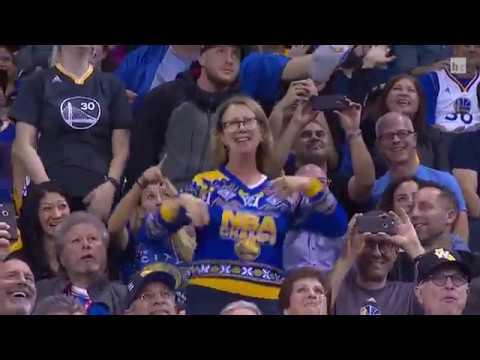 Warriors fan crazy show on Dance Cam - Golden State Warriors vs. Dallas Mavericks - 09/11/2016