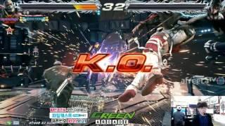 2016/10/13 Tekken 7 FR Rank Match! Knee (Bryan) vs Chanel (Akuma)
