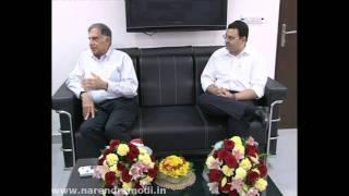 Shri Ratan Tata and Shri Cyrus Mistry meeting Shri Narendra Modi in Gandhinagar