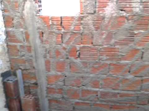 primeira parte construção do banheiro