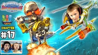 Lets Play SKYLANDERS SUPERCHARGERS Chapter 17: Upside Downstairs Overtheres (Chase beats up Dad)