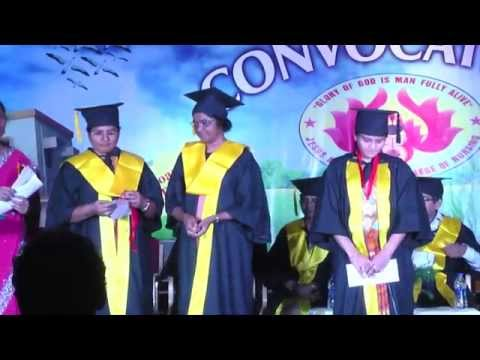 Convocation Ceremony, JMJ College Of Nursing, Sanathnagar,Hyd,Ts,India. 07-03-2015 HD