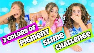 3 Colors of Pigment Slime Challenge!  Gorgeous Neon & Metallic Pigments!