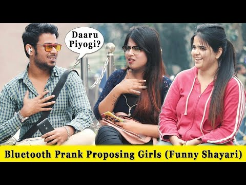 Bluetooth Prank Proposing Girls Funny Shayari Mix Prank In India 2019 Funday Pranks