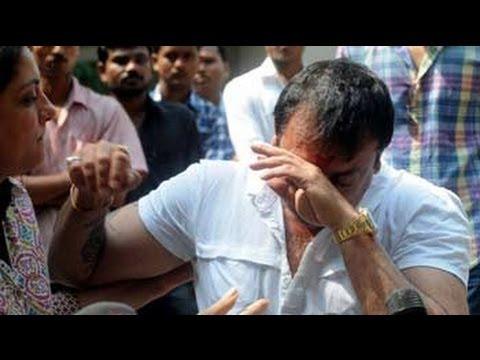 Emotional Sanjay Dutt gets back to work