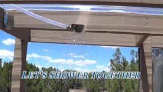 Off Grid Triple S Bath House has Water, Plumbing - Shower, Sink, Hot Water
