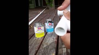 Join PVC fittings using PVC cement - Primer on smaller tasks