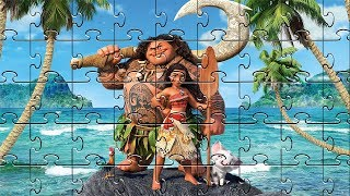 Moana Maui Puzzle Game for Kids | Learning Videos with Nursery Rhymes for Children