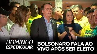 Jair Bolsonaro fala ao vivo após ser eleito Presidente do Brasil