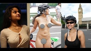 World Naked Bike Ride | Meenal Jain nude cycling | First Indian Girl