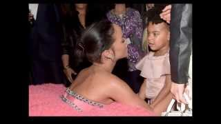 RIHANNA Chats With Blue Ivy Backstage at The Grammys