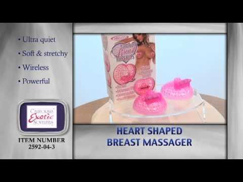 Heart Shaped Breast Massager Nipple Vibrator :: SE259204 ::