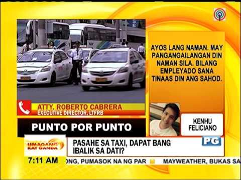 Punto por Punto: Pasahe sa taxi, dapat bang ibalik sa dati?