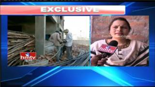 GHMC Officials Collapsing Five-Storey Building with New Technology | Madhapur | HMTV