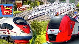 Самые быстрые Скоростные поезда России в одном месте Выставка РЖД Сапсан Ласточка
