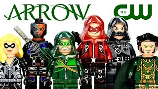 LEGO Arrow on the CW TV Series KnockOff Minifigures (DeCool) w/ Deathstroke & Black Canary