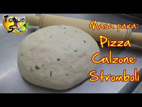 Masa para Pizza Stromboli y Calzone explicado paso a paso TOQUE Y SAZÓN