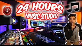 (CAUGHT!) 24 HOUR OVERNIGHT MUSIC STUDIO FORT⏰  | SNEAKING INTO A MUSIC STUDIO OVERNIGHT CHALLENGE!
