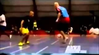 مهارات كرة القدم وتسحيب كرة الشارع.street football