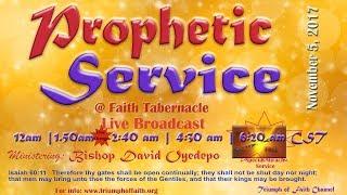 Ps David Oyedepo Jr @Prophetic Service,  November 5,  2017 [2nd Service word]