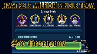33.5 Million with ABC Squad Walkthrough | SWGOH HAAT | Sir Georgeous is Gorgeous