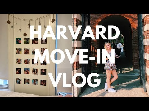 COLLEGE MOVE IN VLOG Freshman Year at Harvard University