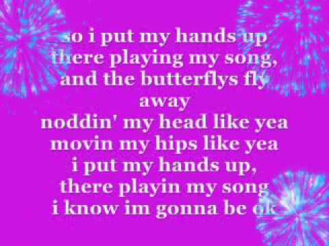 watch Miley Cyrus - Party in the USA [lyrics on screen] =)