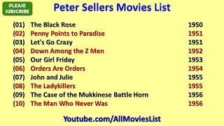 Peter Sellers Movies List