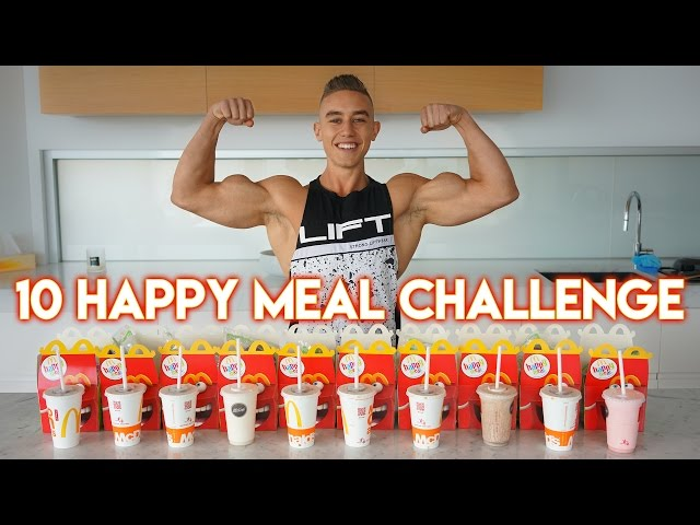 10 Happy Meal Challenge | EPIC CHEAT MEAL | 5000 Calories