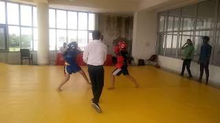 district wushu fight under 17 girls
