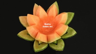 Beautiful Rockmelon Flower - Beginners Lesson 15 By Mutita Art Of Fruit And Vegetable Carving