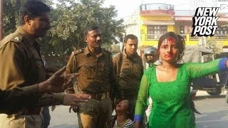 Indian woman brutally beaten by mob of men after resisting a groping creep
