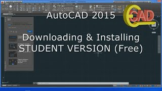 AutoCAD 2015: How to download and Install free/ student version.