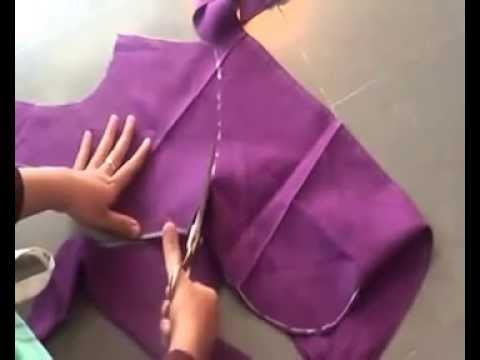 blouse cutting in telugu by using old blouse part -01