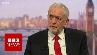 "Jeremy Corbyn: Launching Syria air strikes on humanitarian grounds ""legally debatable"" - BBC News"