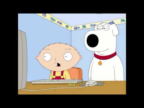 Family guy, Stewies reaction to