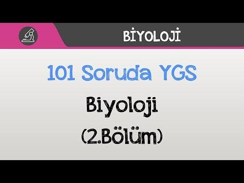 101 Soruda YGS Biyoloji 2016 (2.Bölüm)