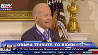MUST WATCH: Tearful, EMOTIONAL Joe Biden SPEAKS After Receiving Surprise Medal of Freedom - FNN