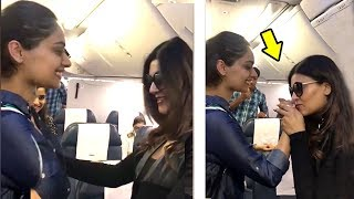 Sushmita Sen Quickly Spots Manushi Chillar On Same Airplane.. What She Does Next Will Melt Ur Heart