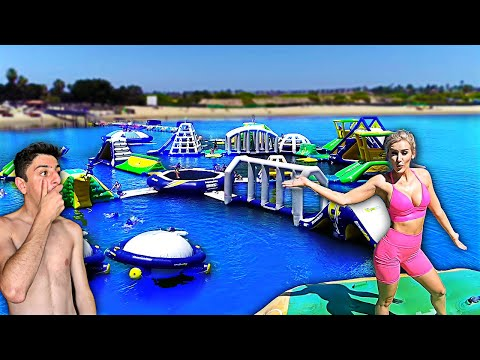 GOING TO THE WORLD'S BIGGEST INFLATABLE WATER PARK