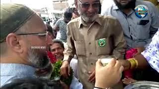 Asaduddin Owaisi Continues Milk Tredition in Election Campaign under Rajendernagar Constituency