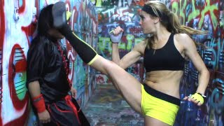 Kung Fu Girl vs Kung Fu Guy | Martial Arts Action Scene