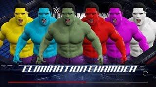 WWE 2K17 Wtf Hulk vs Red Hulk vs Blue Hulk vs Purple Hulk vs Yellow Hulk vs White Hulk