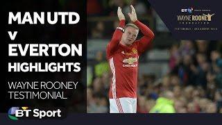 Man Utd 0-0 Everton Highlights   Wayne Rooney Testimonial