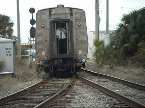 Amtrak Train Does K Turn And Backs Into Tampa Florida Station